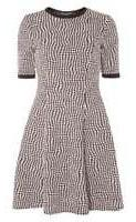 Dorothy Perkins Womens **Tall Pink geo spot fit and flare dress- Pink
