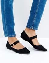 London Rebel Mary Jane Buckle Flat Shoe