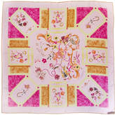 Chanel Pink Floral Silk Scarf