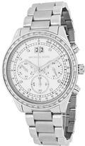 Michael Kors MK6186 Women's Brinkley Silver Stainless Steel Chronograph Watch