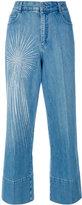 Stella McCartney embellished wide-leg jeans - women - Cotton/Spandex/Elastane - 25