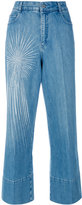Stella McCartney embellished wide-leg jeans - women - Cotton/Spandex/Elastane - 29