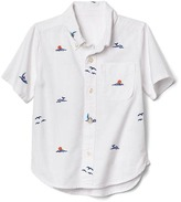Gap Ocean embroidery short sleeve shirt