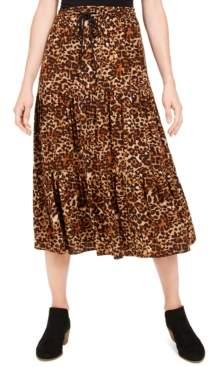 Style&Co. Style & Co Petite Cheetah-Print Midi Skirt, Created For Macy's