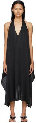Pleats Please Issey Miyake Black Echo Long Dress