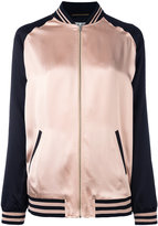 Saint Laurent oversized teddy baseball jacket - women - Cotton/Acrylic/Polyamide/Wool - 36