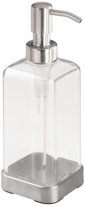 InterDesign 66980 16 Oz Clear/Brushed Stainless Forma 2 Soap/Lotion Di