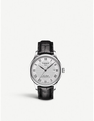 Tissot Women's Silver and Back T006.407.16.033.00 Le Locle Stainless Steel Watch