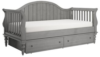 Three Posts Fort Collins Twin Daybed with Trundle and Toybox Divider Color: Antique Gray