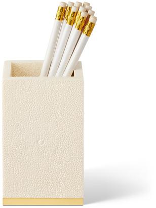 AERIN Shagreen Pencil Cup - Cream