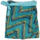 Poleci Teal Sequin Silk Skirt