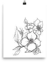 Mr. Kate Sketched Flowers Print