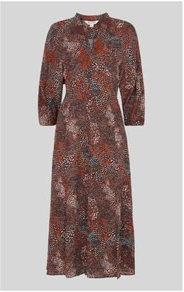 Whistles Abstract Animal Midi Dress