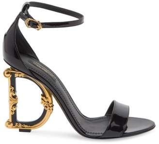 Dolce & Gabbana Sculpted-Heel Patent Leather Sandals
