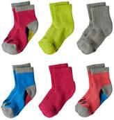 Stride Rite Baby Girl 6-pk. Steph Crew Socks