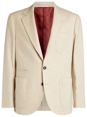 Brunello Cucinelli Wool-Cashmere Tailored Jacket
