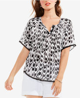 Vince Camuto TWO by Printed Tassel-Trim Top