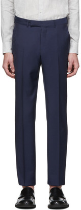 Ermenegildo Zegna Navy Wool Suit Trousers