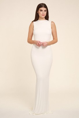 Honor Gold Bella white sleeveless maxi dress