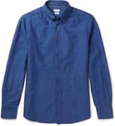 Brunello Cucinelli - Button-down Collar Linen And Cotton-blend Shirt