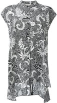 Diane von Furstenberg printed short sleeve blouse - women - Silk - 2