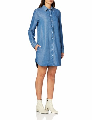 Calvin Klein Jeans Women's Tencel Shirt Dress Casual