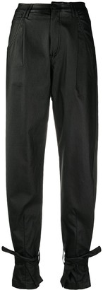 FEDERICA TOSI Faux Leather Tapered Trousers