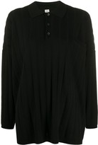Totême Relaxed Fit Long Sleeve Polo Top