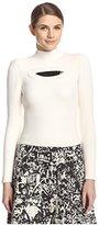 Carven Women's Peek-A-Boo Jewel Sweater