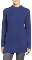 Chaus Women's Two-Pocket Mock Neck Tunic Sweater