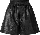 Golden Goose Deluxe Brand crackle faux leather shorts