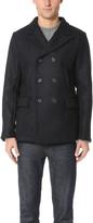 Billy Reid Wool Peak Lapel Pea Coat