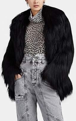 Philosophy di Lorenzo Serafini Women's Faux-Fur Shag Coat - Black