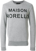 Frankie Morello logo patch sweatshirt