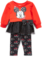 Children's Apparel Network Minnie Mouse Top & Leggings Set - Infant