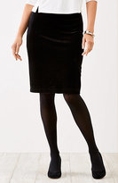 J. Jill Wearever Velvet Pencil Skirt