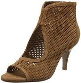 Sofie Schnoor Women's Suede sandal stacked heel Open Toe Sandals Brown Size: