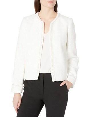 Tahari ASL Women's Pearl Trim Boucle Jacket