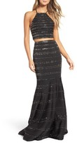 La Femme Women's Two-Piece Gown