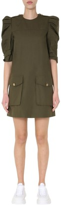 Alexander McQueen Puff Sleeve Mini Dress