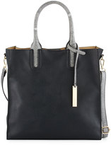Neiman Marcus Citi Faux-Leather Tote Bag with Stingray Handles, Black