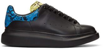 Alexander McQueen Black Snake Oversized Sneakers