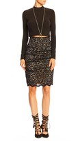 Nicole Miller Floral Lace Sandy Skirt