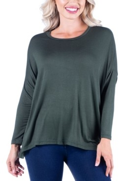 24seven Comfort Apparel Women's Oversized Long Sleeve Dolman Top