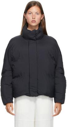 Low Classic Black Down Nylon Jacket