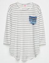 Hip Stripe Girls Pocket Tee