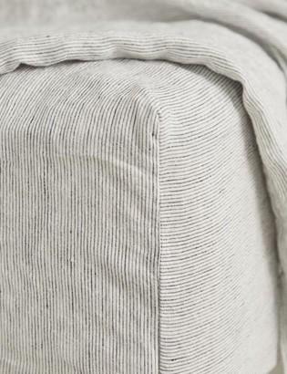 Lulu & Georgia Cultiver Linen Bedding, Pinstripe Fitted Sheet