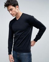 Benetton V-Neck Sweater In 100% Cotton