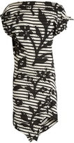 Vivienne Westwood Shore striped floral-print jersey dress