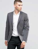 Sisley Slim Fit Suit Jacket in Prince of Wales Check